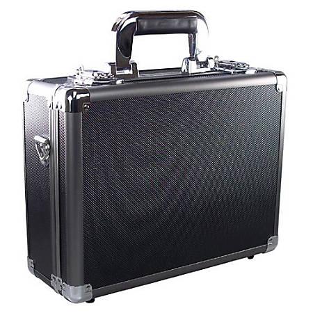 "Ape Case ACHC5500 Carrying Case Camera, Gun, Electronic Equipment - Black, Gray - Aluminum, Acrylonitrile Butadiene Styrene (ABS), Steel, Foam Interior - Carrying Strap, Handle - 10.3"" Height x 5.1"" Width x 13"" Depth"