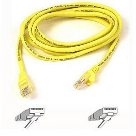 Belkin Cat5e Patch Cable - RJ-45 Male Network - RJ-45 Male Network - 10ft - Yellow