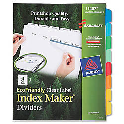 SKILCRAFT Index Maker 100percent Recycled Clear