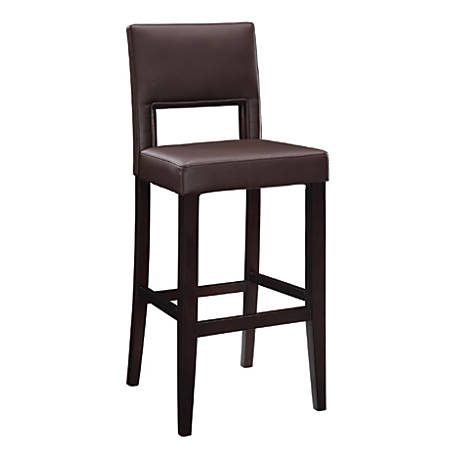 Linon Home Décor Vega Bar Stool, Dark Brown/Espresso
