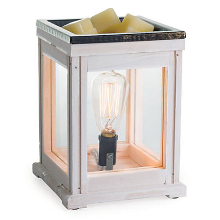 """Candle Warmers Etc Edison Bulb Illumination Fragrance Warmers, 5-13/16"""" x 8-13/16"""", Weathered Wood, Pack Of 6 Warmers"""