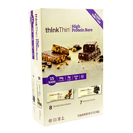 thinkTHIN High Protein Bars Variety 20g Protein, 15 Count