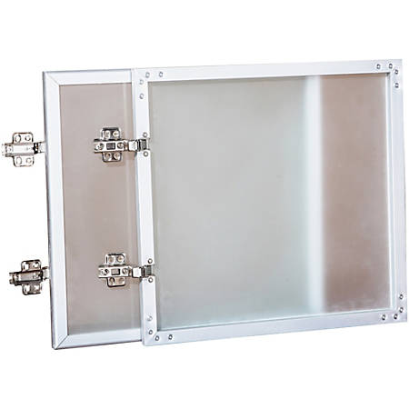 "Lorell® Essentials Series Doors for Wall Mount Open Hutch, 30""W, Frosted Glass"