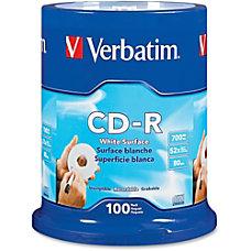 Verbatim 52X CD R Discs With