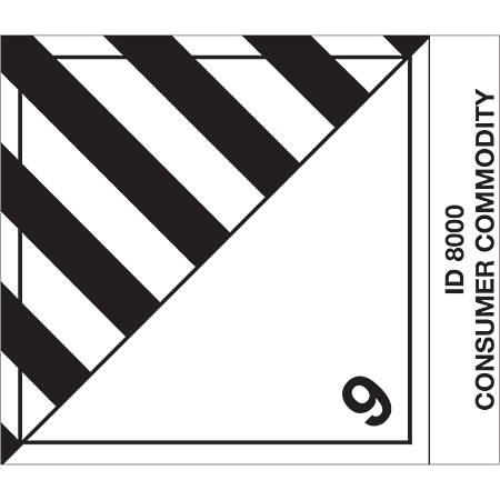 """Tape Logic® Preprinted Shipping Labels, DL520P1, Consumer Commodity, Square, 4"""" x 4 3/4"""", Black/White, Roll Of 500"""