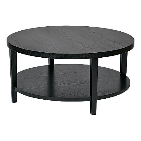 Ave Six Merge Coffee Table, Round, Black