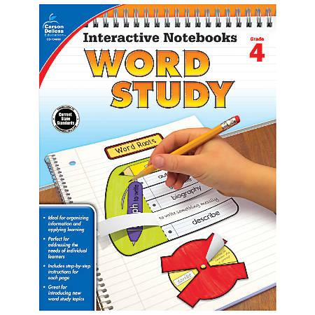 Carson-Dellosa Interactive Notebooks Word Study Books, Grade 4