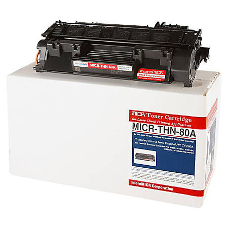MicroMICR MICRTHN80A (HP CF280A) Black MICR Toner Cartridge