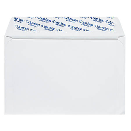 "Quality Park® Grip-Seal® Invitation And Greeting Card Envelopes, 5 3/4"" x 8 3/4"", White, Box Of 100"