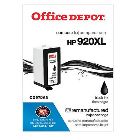 Office Depot® Brand OD920XLB-C (HP 920XL) Remanufactured Black Ink Cartridge