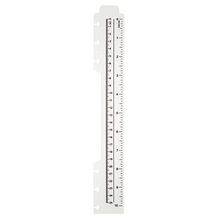 """TUL™ Custom Note-Taking System Discbound Plastic Ruler, 10"""", Clear"""