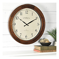 FirsTime Co Garrison Wall Clock Walnut