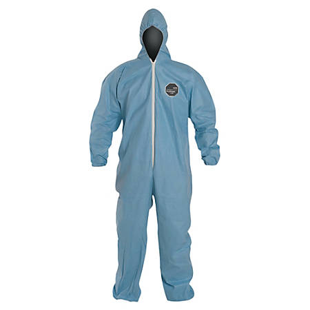 DuPont ProShield 6 SFR Coveralls With Attached Hood, 3X, Blue, Pack Of 25 Coveralls
