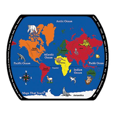 Flagship Carpets Printed Rug, 10'H x 13'W, Maps That Teach