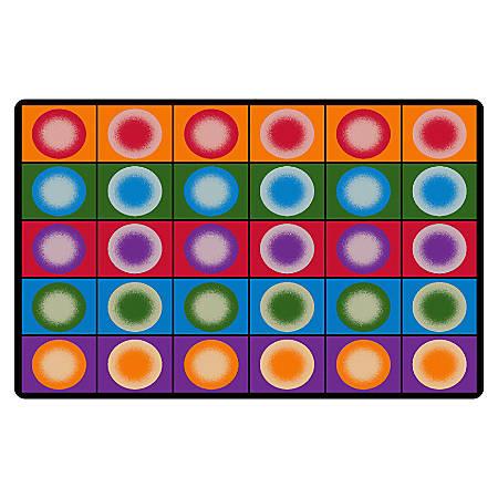 """Flagship Carpets Printed Rug, 7'6""""H x 12'W, Dot Spots"""