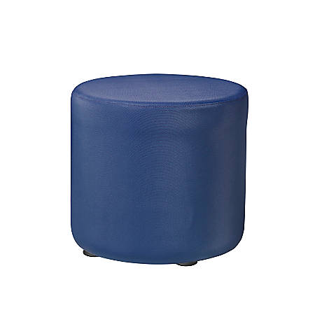 "Marco Round Seating Ottoman, 16""H, Royal"