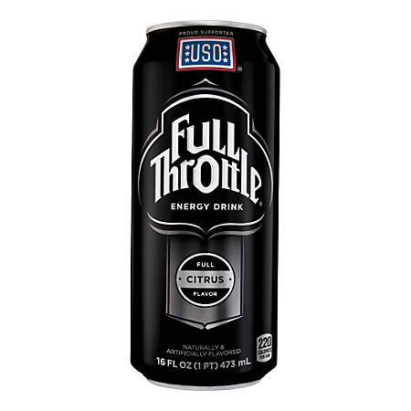 Full Throttle Energy Drink, Citrus, 16 Oz.