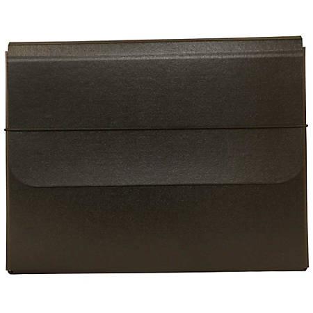 JAM Paper® Portfolio Carrying Case With Elastic Band, Black