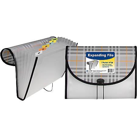 C-Line 7-Pocket Expanding File - Plaid Fashion Series, 1/EA, 58012
