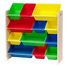 IRIS 4 Tier Storage Bin Organizer