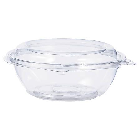 """Dart® SafeSeal™ Tamper-Resistant/Tamper-Evident Bowls, 2 1/8""""H x 5 1/2""""W x 5 1/2""""D, 0.25 Qt, Clear, Pack Of 240 Bowls"""