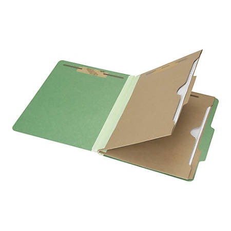 "SKILCRAFT® 6-Part 2"" Prong Expandable Classification Folders, Letter Size, 30% Recycled, Dark Green, Box Of 10 (AbilityOne 7530-01-600-6983)"