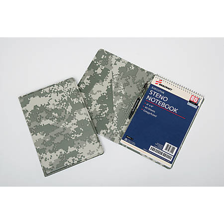 "SKILCRAFT® 30% Recycled Steno Pad Holder, 6"" x 9"", Camouflage"