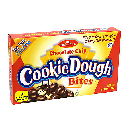 Taste Of Nature Ginormous Chocolate Chip Cookie Dough Bites, 1.75 Oz, Pack Of 9 Pouches