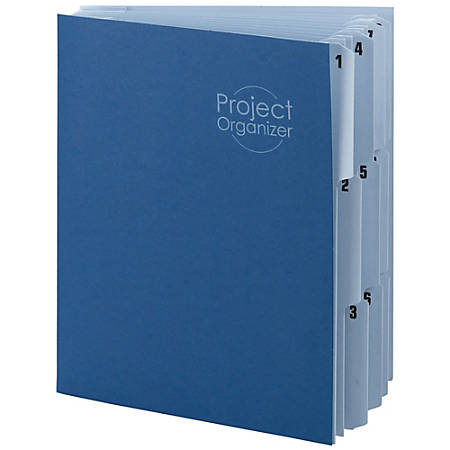 Smead® File Organizer, 10 Tabs, Letter Size, Navy