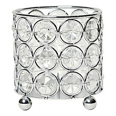 Elegant Designs Elipse Crystal Decorative Vase