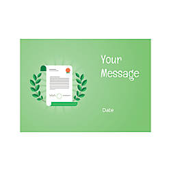 Flat Photo Greeting Card Certificate Horizontal
