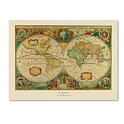 Trademark global old world map canvas print 35 h x 47 w by office trademark global old world map canvas print 35 h x 47 w by office depot officemax gumiabroncs Image collections