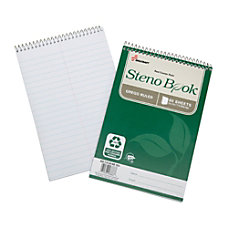 SKILCRAFT 100percent Recycled Steno Books 6