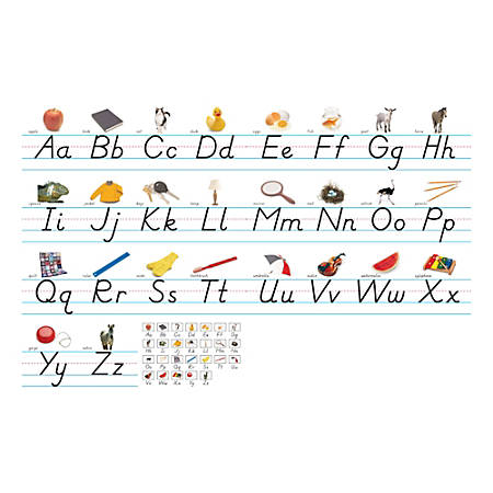 "North Star Teacher Resources Alphabet Lines, 7 5/8"" x 24 1/4"", Modern Manuscript, Pre-K - Grade 8, Pack Of 7"
