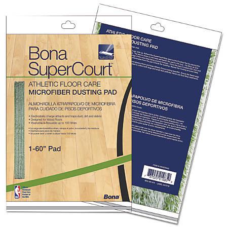 "Bona® SuperCourt™ Athletic Floor Care Microfiber Dusting Pad, 60"", Green"