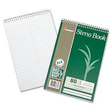 SKILCRAFT Wirebound Steno Notebooks 6 x