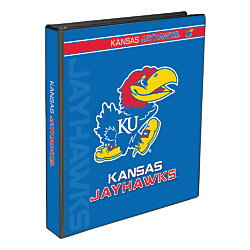 "Markings by C.R. Gibson® Round-Ring Binder, 1"" Rings, Kansas Jayhawks"