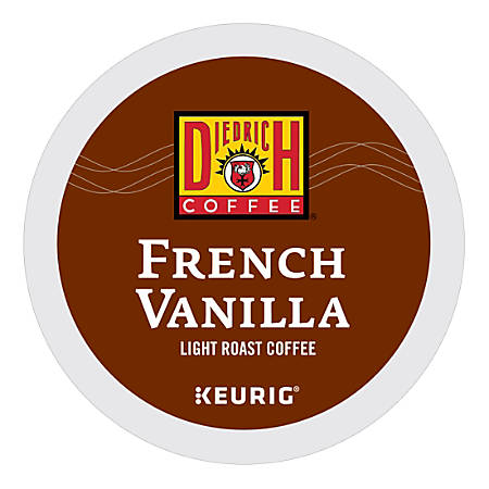 Diedrich Coffee Light Roast Coffee K-Cup® Pods, French Vanilla, 0.31 Oz, Box Of 24