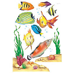 Eureka Fish Window Clings Multicolor Pre