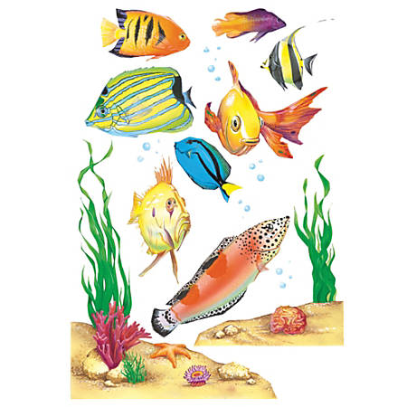 Eureka Fish Window Clings, Multicolor, Pre-K - Grade 8, Pack Of 15