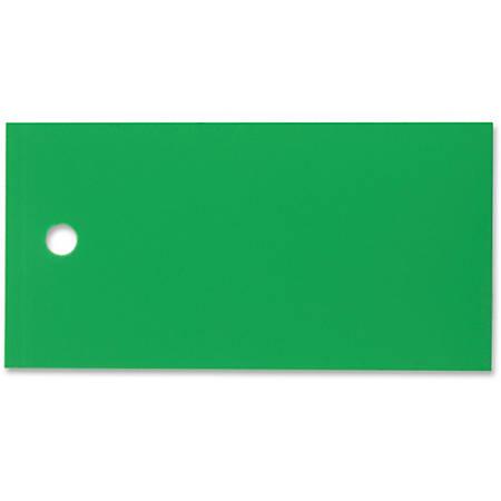 Tatco Plastic Tags - 100 / Pack - Plastic - Green
