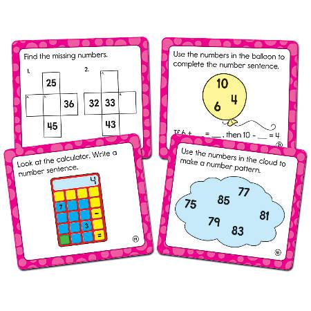 """Carson-Dellosa Math Challenge Curriculum Cut-Outs, 5"""" x 5 1/2"""", Multicolor, Grade 1"""