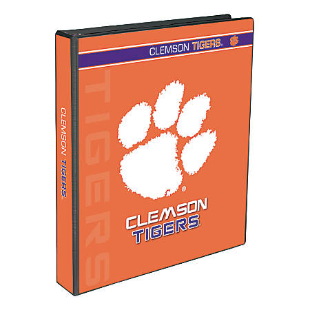 "Markings by C.R. Gibson® Round-Ring Binder, 1"" Rings, Clemson Tigers"