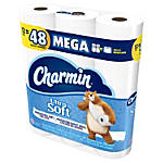 Charmin® Ultra Soft™ Mega Rolls, 2-Ply, White, 284 Sheets Per Roll, Pack Of 12 Rolls