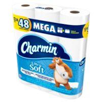OfficeDepot.com deals on 12 Pack Charmin Ultra Soft 2-Ply Bathroom Tissue Mega Rolls