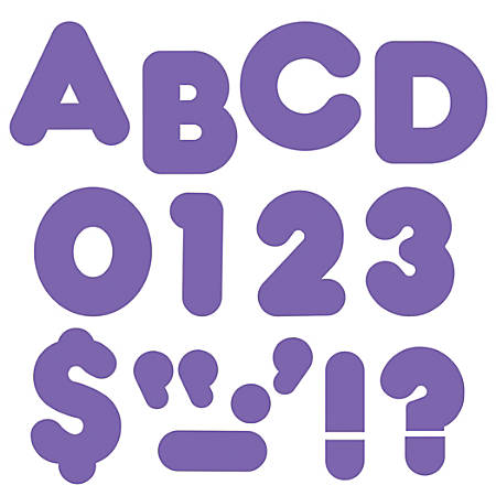 "TREND Ready Letters®, Casual, 2"", Purple, Pre-K - Grade 12, Pack Of 142"