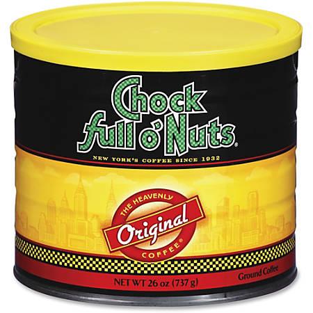 Office Snax Chock Full O'Nuts Original Coffee - Regular - Original - 26 oz - 1 Each