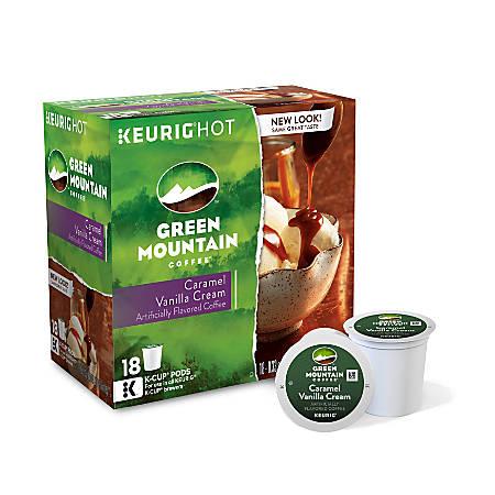Green Mountain Coffee® Caramel Vanilla Cream K-Cup® Pods, 4 Oz, Box Of 18