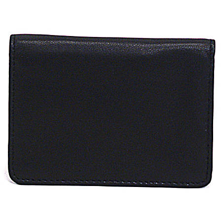 Samsonite leather business card holder 4 116 x 3 x 12 black by samsonite leather business card holder 4 reheart Gallery