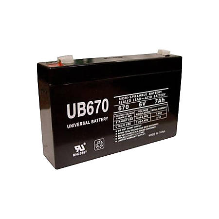 eReplacements Compatible SLA Battery Replaces APC UB670, TrippLite UB670, for use in Tripp Lite BC275, Tripp Lite BC500/A - 7000 mAh - 6 V DC - Sealed Lead Acid (SLA)